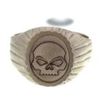 3D Skull on gold signet ring_1